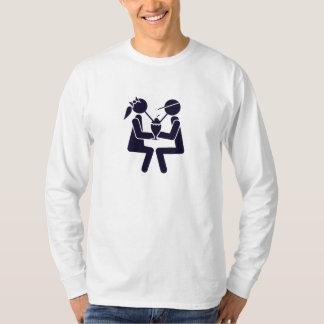 Couple Sharing a Shake Tee Shirt