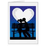 Couple Silhouette Moon Card