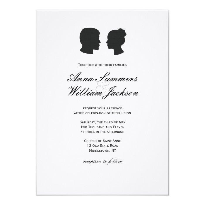 Couple Silhouette Wedding Invitation -Customs Made
