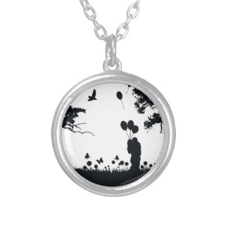 Couple Silver Plated Necklace