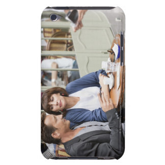 Couple sitting in a restaurant, Paris, 2 iPod Case-Mate Case