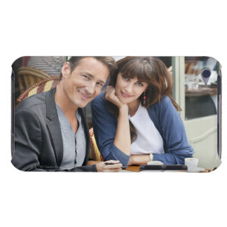 Couple sitting in a restaurant, Paris, iPod Case-Mate Case