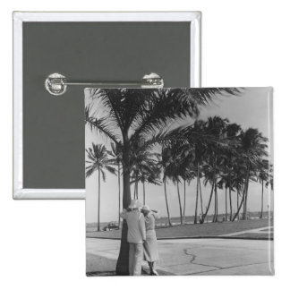 Couple Standing Under Tree Button