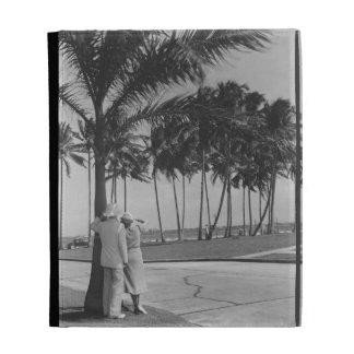 Couple Standing Under Tree iPad Folio Cover