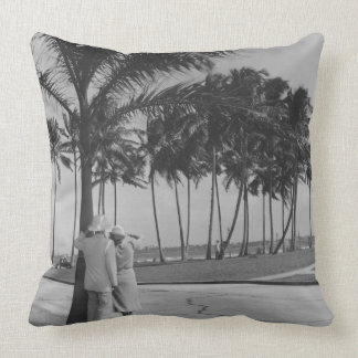 Couple Standing Under Tree Pillows