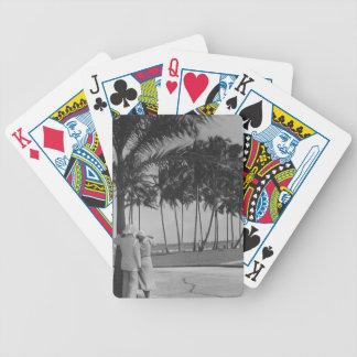 Couple Standing Under Tree Poker Deck