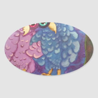 Couple Oval Sticker