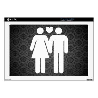 Couple Strolls Icon Laptop Decal