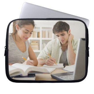 Couple studying together laptop sleeve
