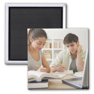Couple studying together magnet