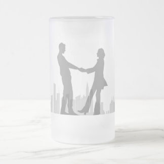 Couple Sway, Frosted 16 oz Frosted Glass Mug