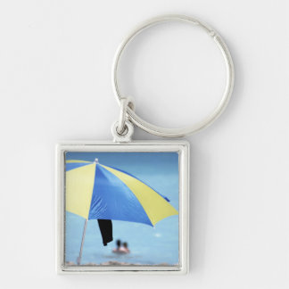 Couple Swimming, South Miami Beach, Florida Keychain