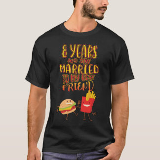 Couple T Shirt For 8 Years Anniversary
