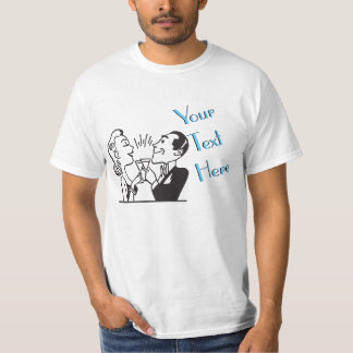 Couple Toasting Vintage Template Shirt