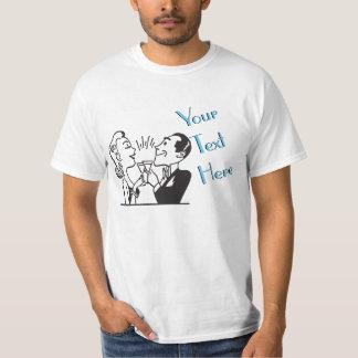 Couple Toasting Vintage Template Tshirt