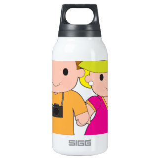 Couple Travel Insulated Water Bottle