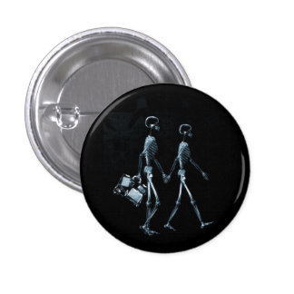 Couple Traveling X-Ray Vision Skeletons - Blue Buttons