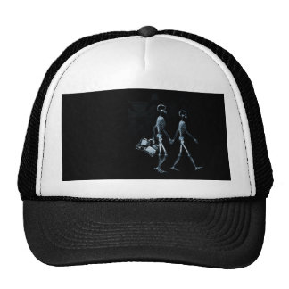 Couple Traveling X-Ray Vision Skeletons - Blue Trucker Hat