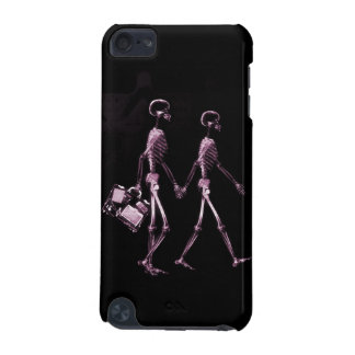 Couple Traveling X-Ray Vision Skeletons - Pink iPod Touch (5th Generation) Case