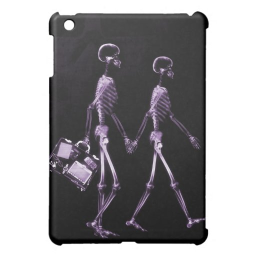 Couple Traveling X-Ray Vision Skeletons - Purple iPad Mini Cover