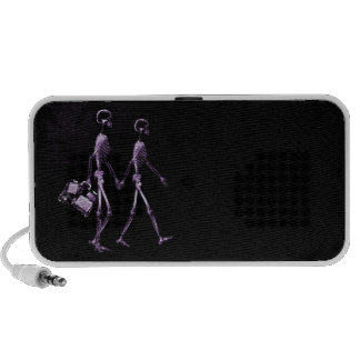Couple Traveling X-Ray Vision Skeletons - Purple Mp3 Speaker