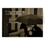 Couple Under an Umbrella Husband Anniversary Card