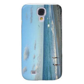 Couple walking on florida beach w seagull galaxy s4 case