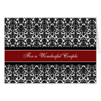 Couple Wedding Congratulations Card Black Red