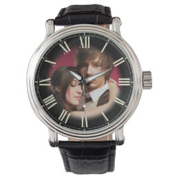 Couple Wedding Portrait Chic Fade to Photo Roman Wristwatch
