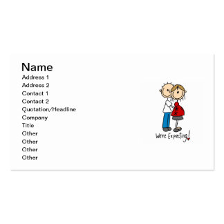 Couple We're Expecting T-shirts and Gifts Double-Sided Standard Business Cards (Pack Of 100)