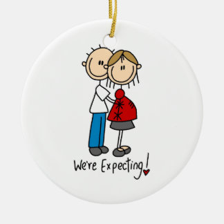 Couple We're Expecting T-shirts and Gifts Ceramic Ornament