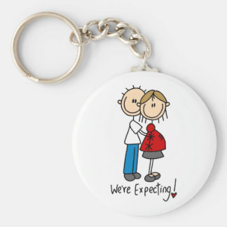 Couple We're Expecting T-shirts and Gifts Keychain