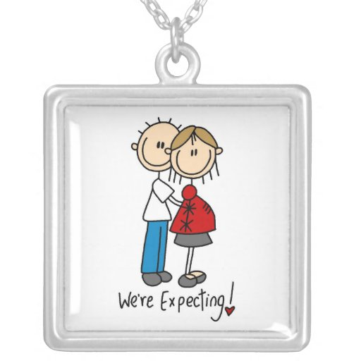 Couple We're Expecting T-shirts and Gifts Necklaces
