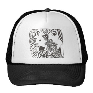 couple with bird trucker hat