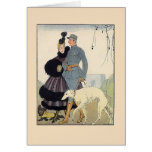 Couple with Dogs Greeting Card