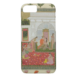 Couple with female attendants and musicians iPhone 7 case