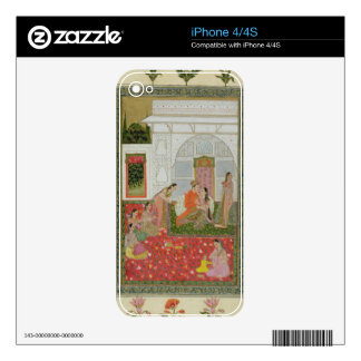 Couple with female attendants and musicians skin for the iPhone 4S