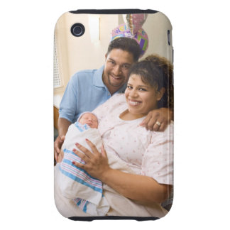 Couple with newborn iPhone 3 tough covers