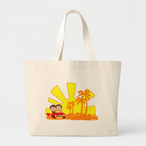 Couple with Sunset Bags