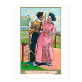 Couple with Tennis GearSame Old Racket Post Cards