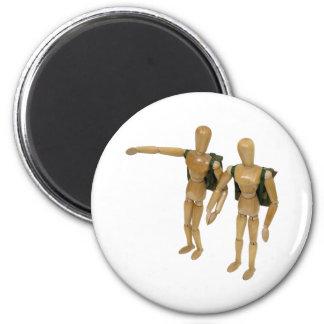 CoupleHiking050809 2 Inch Round Magnet