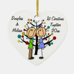 Couple's 1st Christmas Together  Heart Ornament