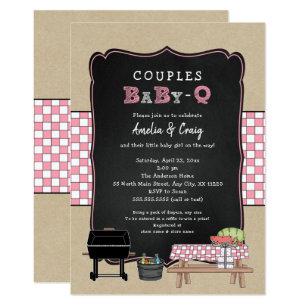 S Baby Q Bbq Shower Invitation