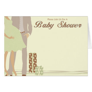 Couples Baby Shower Greeting Card