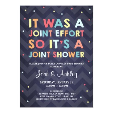 Toddler & Baby themed Couples Baby Shower invitation Coed Shower Joint