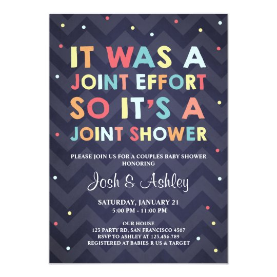 couples baby shower invitation coed shower joint zazzle