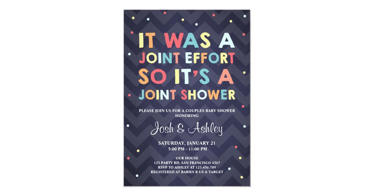 Couples Baby Shower invitation Coed Shower Joint | Zazzle.com