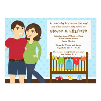 Couples Baby Shower Invitation for a Boy