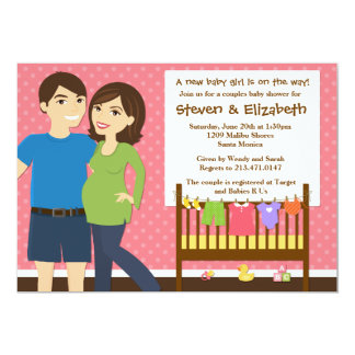 Couples Baby Shower Invitation for a Girl