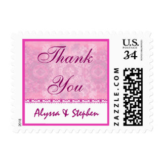 Couples Baby Shower Thank You Shades of Pink 2 Postage Stamp